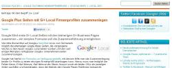Aus Google Places wird Google+ local